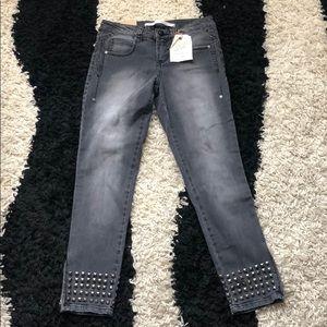 Rachel Roy Denim Studded Jeans